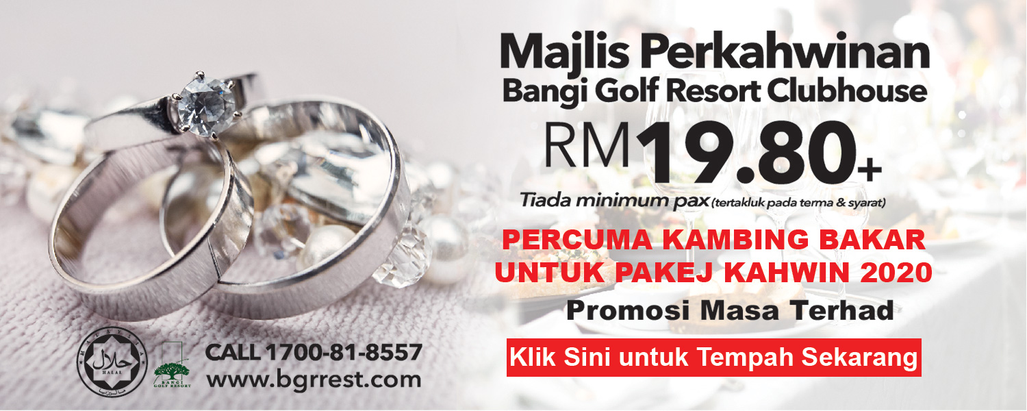 bangi wedding package